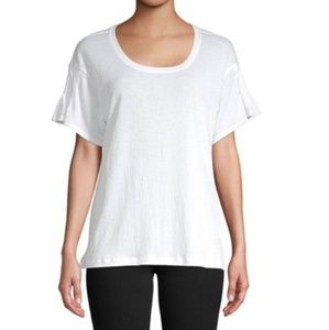 NWT Lord & Taylor Pleated Sleeve Tee Size XL